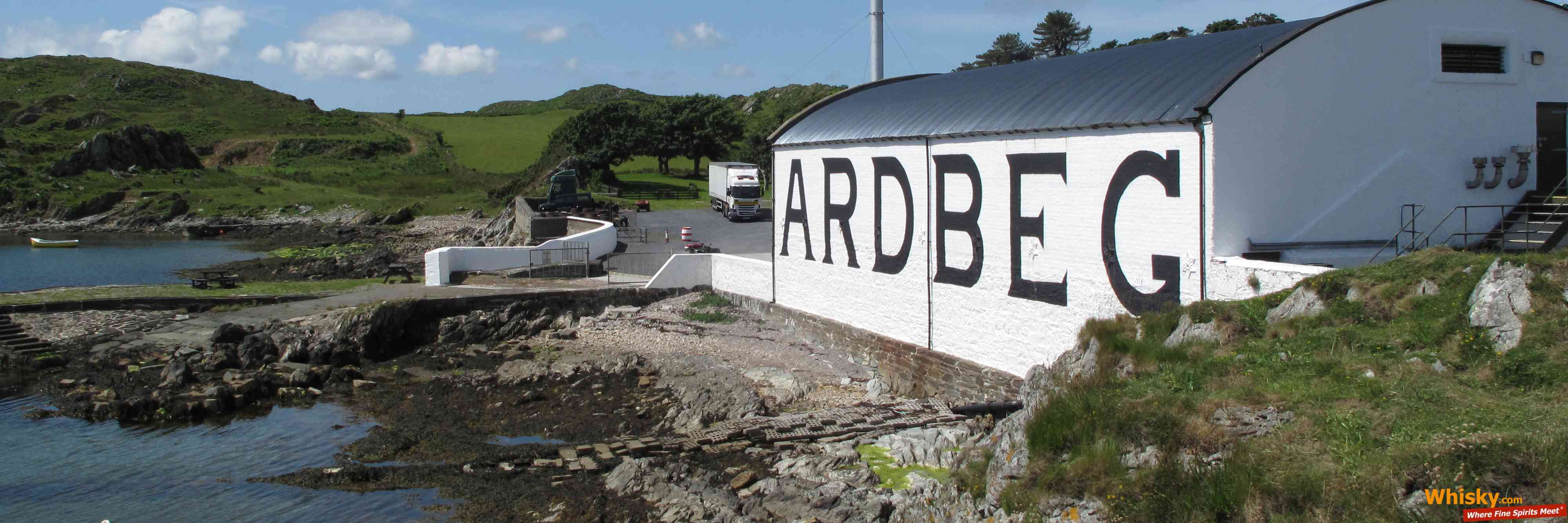 The Ardbeg distillery from the side