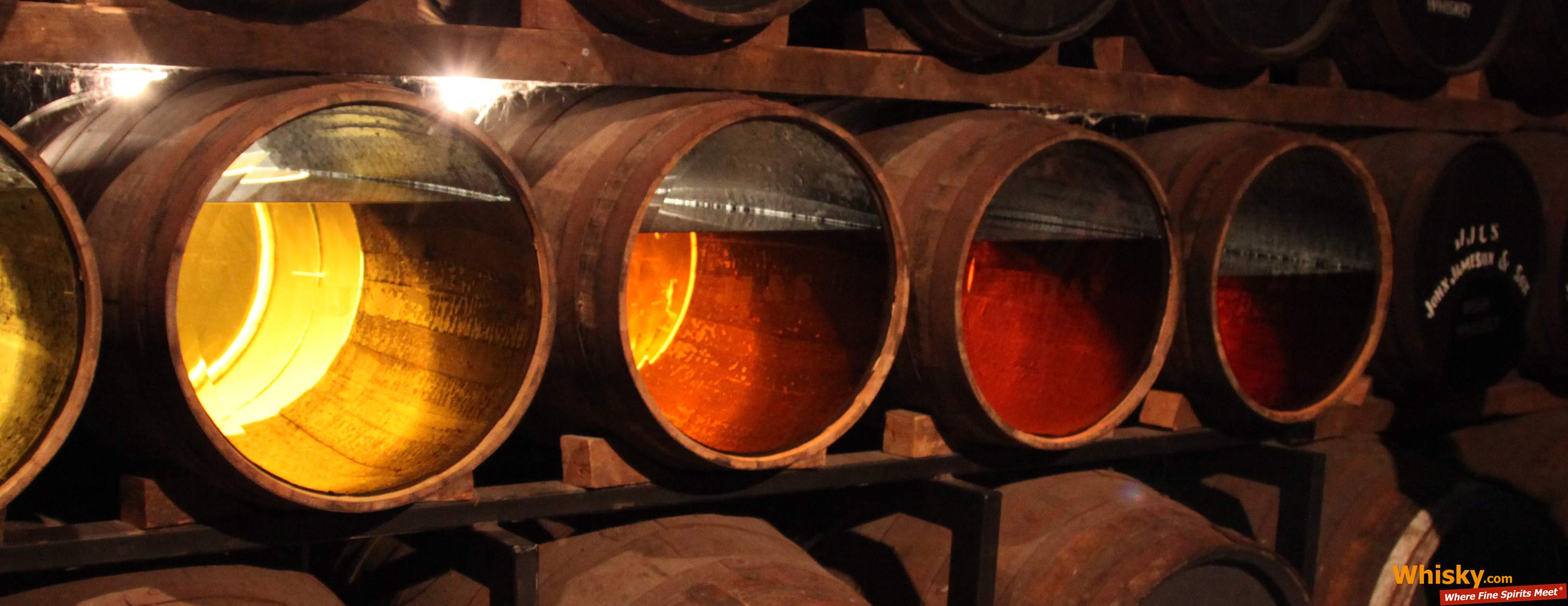 Different stages of whisky maturation