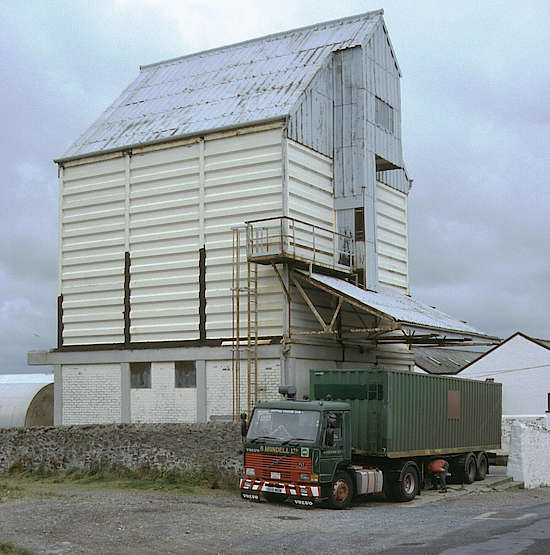 The malt being transported at the Bowmore distillery