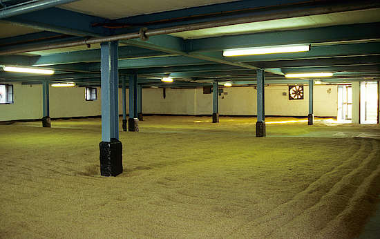 The malting floor of Bowmore