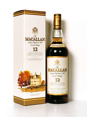 Macallan 12 y.o. 0.7l a with its cardboard box