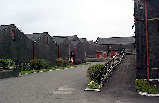 The warehouses of the Glenburgie distillery.