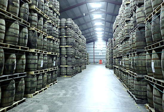 The warehouse of the Teeling distillery