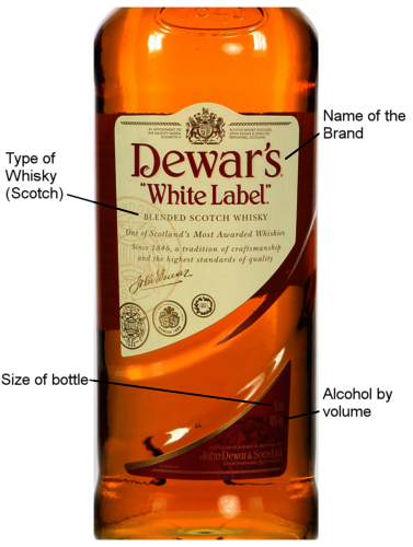 The Label of the Dewars white label