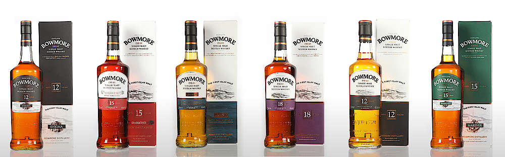 Some bottles of the Bowmore range.