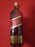 Johnnie Walker Red Label with label in French and English