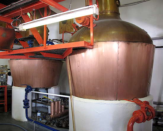 The whole pot stills of Edradour.