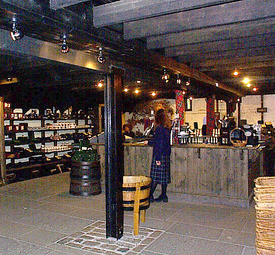 The shop inside the visitor center.