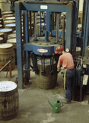 The Assembly machine at the Speyside cooperage
