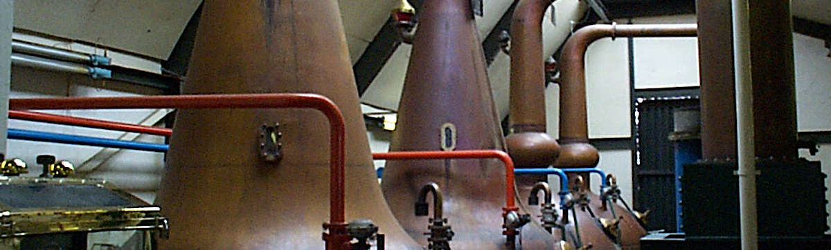 The Allt-a-Bhainne pot stills