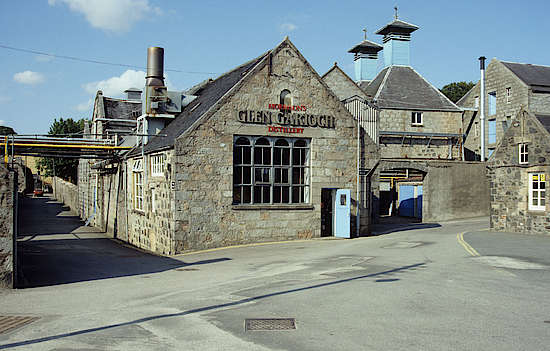 The production buildings at the Glen Garioch distillery