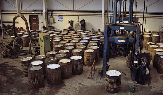 The assembly of the casks at the Speyside cooperage