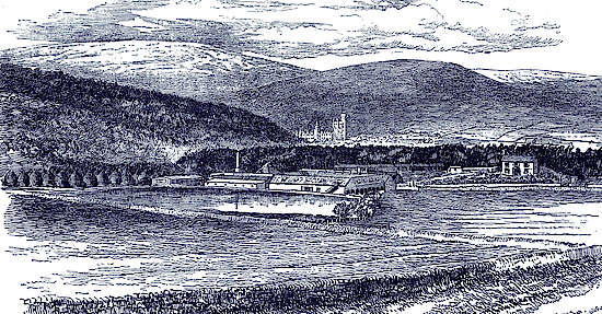 An old painting of the Royal Lochnagar distillery