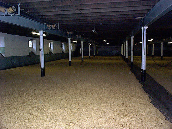 The malting floor of the Balvenie distillery.