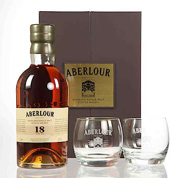 Aberlour 18 years with two glasses