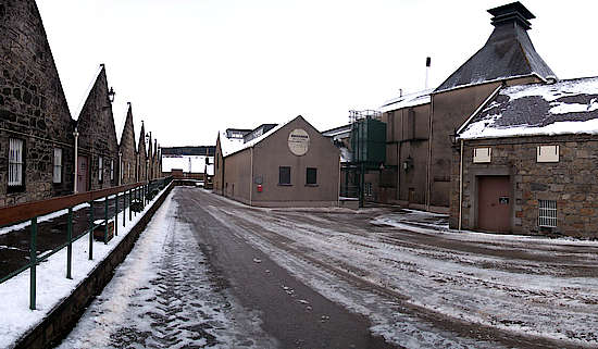 The inner courtyard of the Knockando distillery.