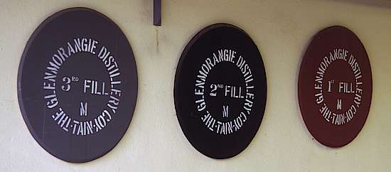 The Lids of casks at the Glenmorangie distillery