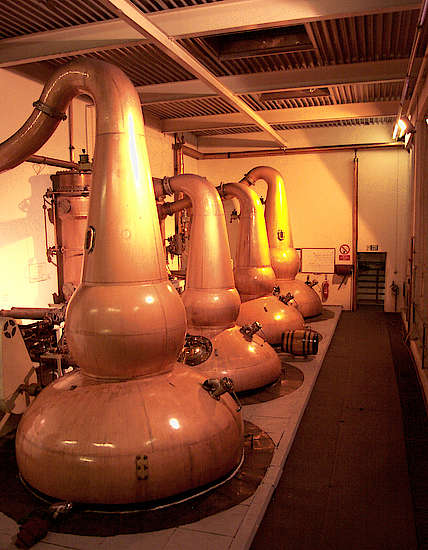 The oot stills of the Glendronach distillery.