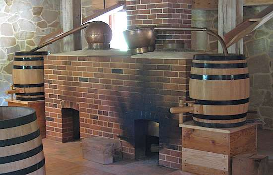 A renovated still at the George Washinton distillery
