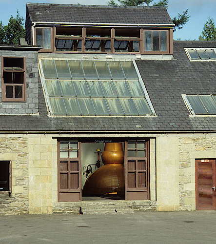 The still house of the Glen Keith Distillery