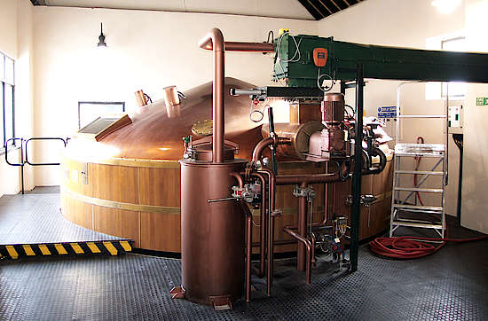 The mash tun of the Cragganmore distilery.