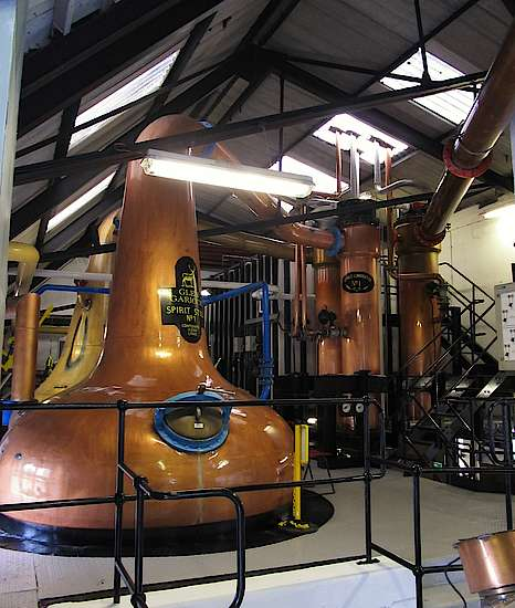 The pot still of the Glen Garioch distillery