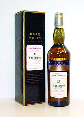 Coleburn 21 y.o. 1979 Rare Malts Selection with the cardboard box
