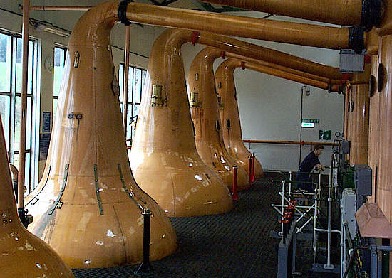 The pot stills of Glentauchers