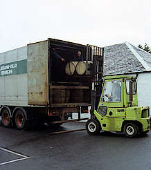 Laphroaig cask transportation uploaded by Ben, 07. Apr 2015