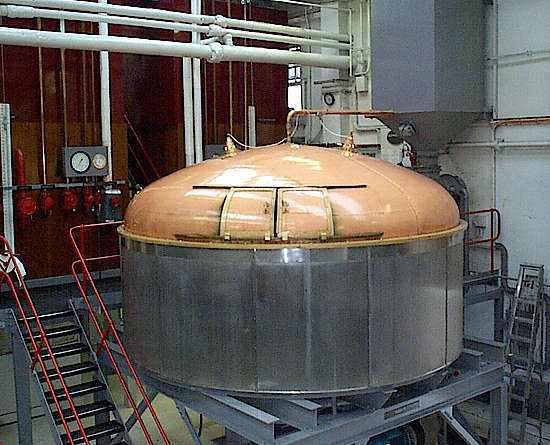 The mash tun inside the Glengoyne distillery.