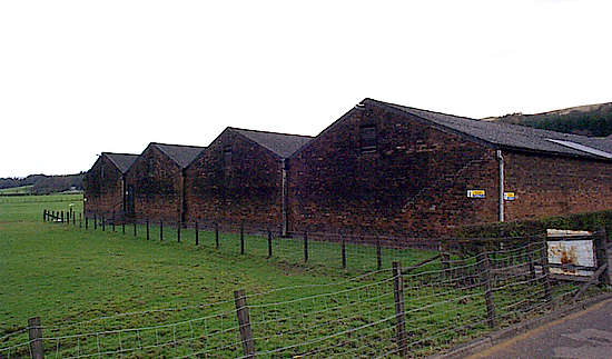 The warehouses of the Glengoyne distillerie.