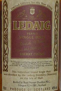Ledaig Limited Edition for the Year 2000
