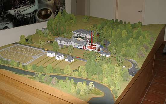 A model of the Aberfeldy distillery