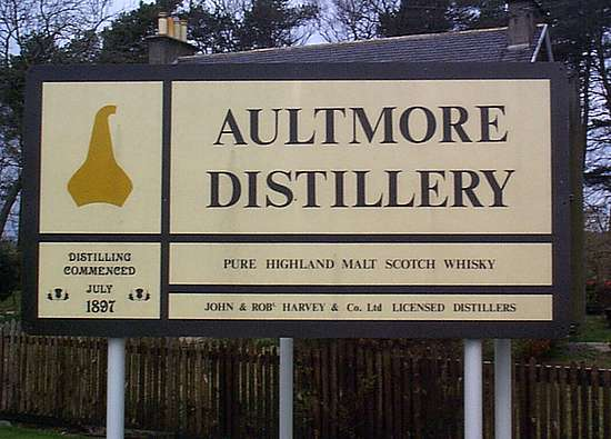 The Aultmore company sign.