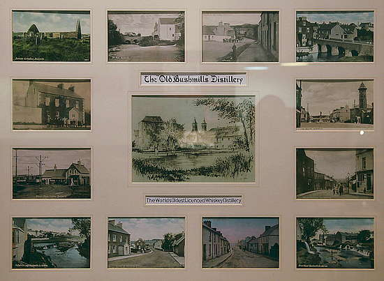 Very old pictures of the Old Bushmills distillery