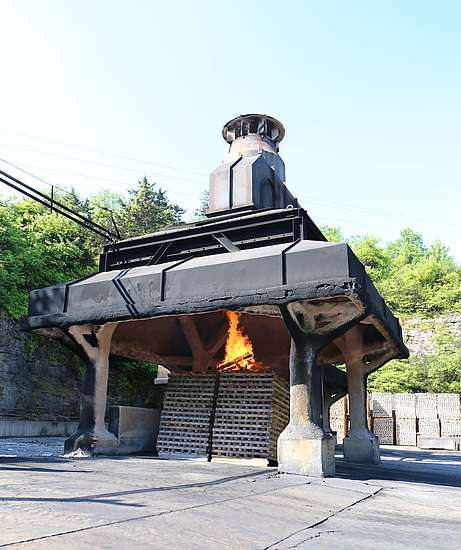 Charcoal production at Jack Daniel's