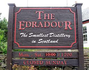 Edradour company sign uploaded by Ben, 25. Feb. 2015