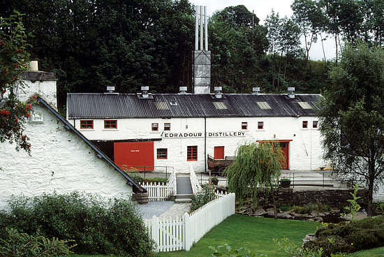 The Edradour distillery house.