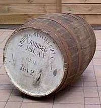 A picture of an Ardbeg cask