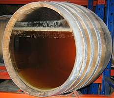 Maturing sherry cask with flor
