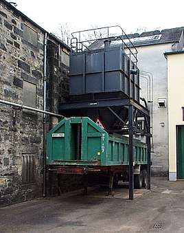 The Draff silo with the trailer under it