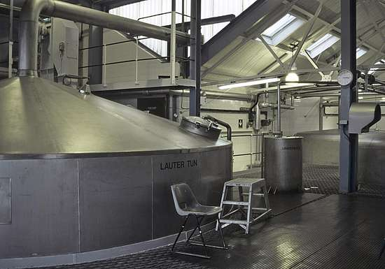 The modern Lauter tun at the Laphroaig distillery