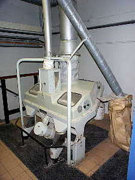 A malt sieving machine at Longmorn