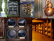 Read an overview about how Bourbon Whiskey is produced. See the choice of grain, corn, grain cooking, yeast management, fermentation, sour mash and how the oak barrels effect the whiskey.