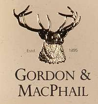 The Gordon & MacPhail Sign. A head of a deer.