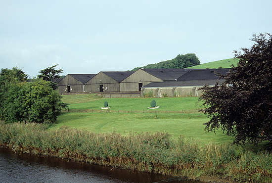 The warehouse of the Bladnoch distillery.