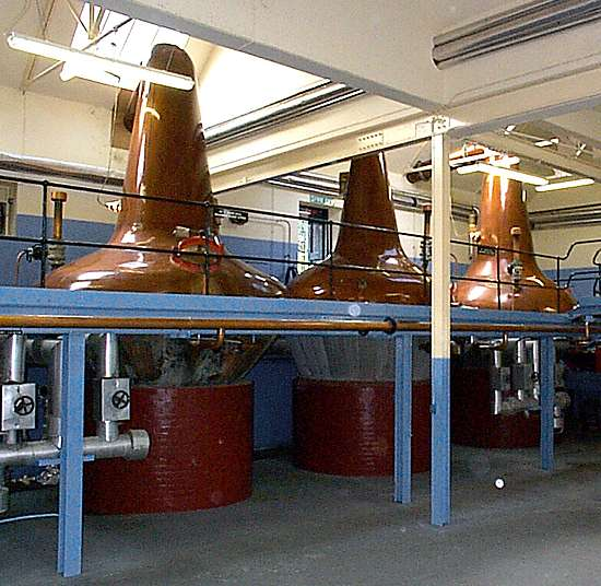 The wash and spirit stills.