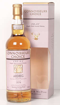 Ardbeg Connoisseurs' Choice next to the old cardbox