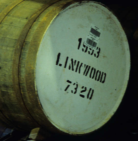 A cask with the Linkwood stamp.