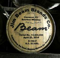 Jim Beam barrel with stamp uploaded by Ben, 17. Jun 2015